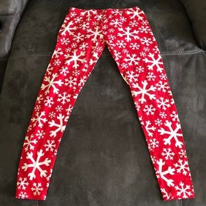 snowflake leggings